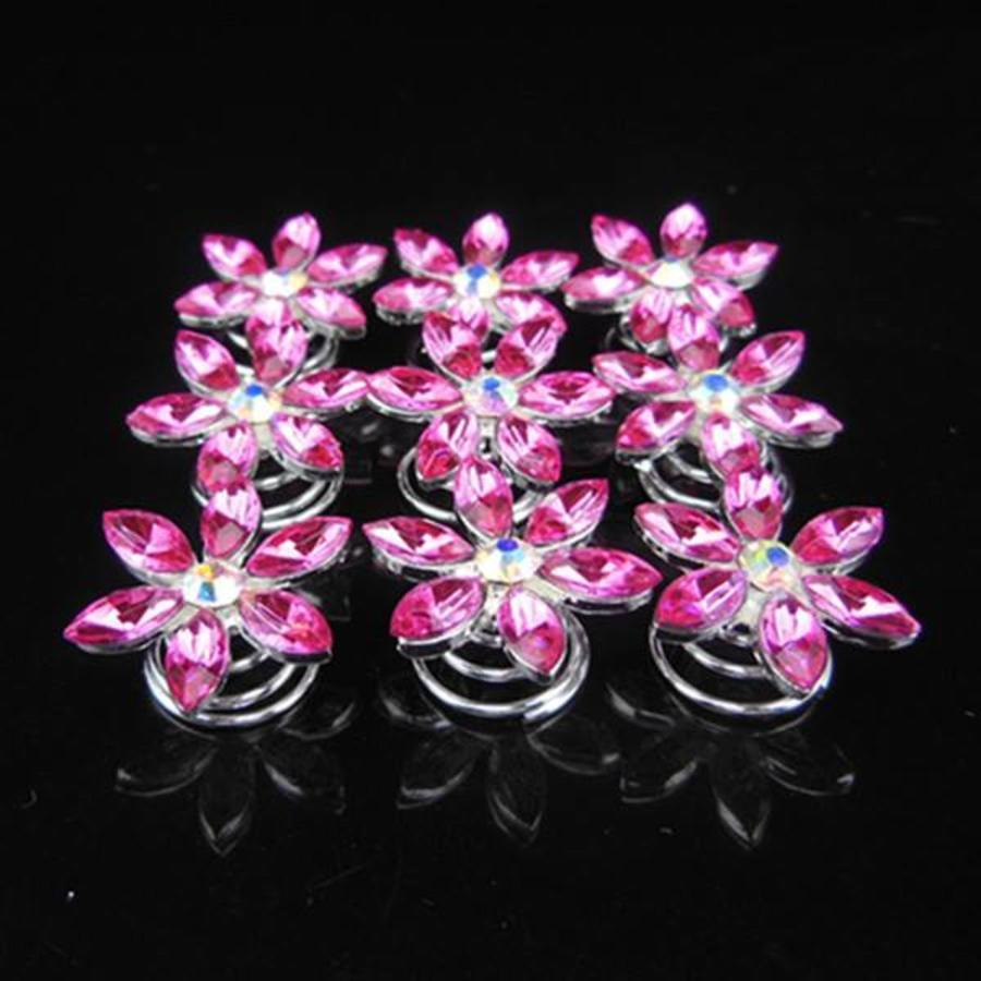 Fonkelende Curlies Flower Roze - 6 stuks-2