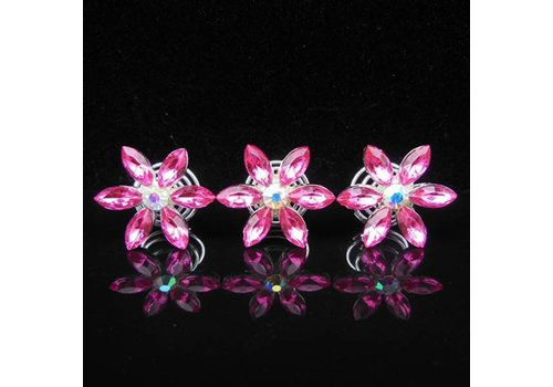 Fonkelende Curlies Flower Roze - 6 stuks