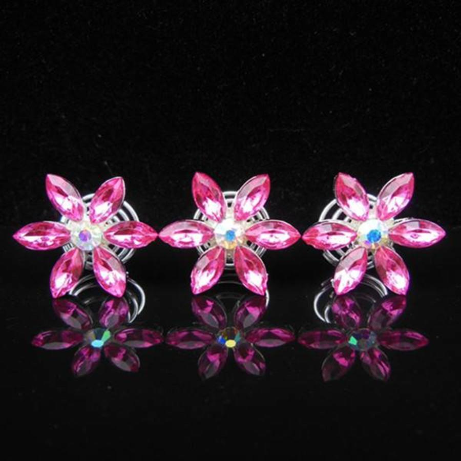 Fonkelende Curlies Flower Roze - 6 stuks-1