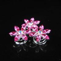 thumb-Fonkelende Curlies Flower Roze - 6 stuks-3