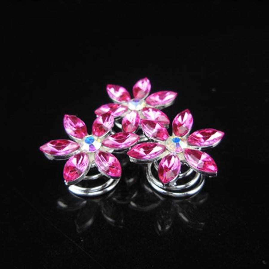 Fonkelende Curlies Flower Roze - 6 stuks-3