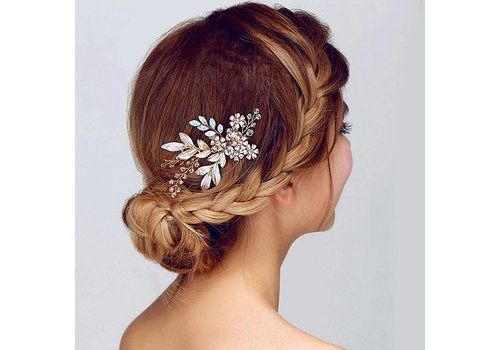Zilverkleurige Haarkam met Bloemen