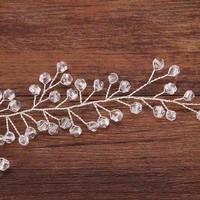 thumb-Elegant Zilverkleurig Haar Sieraad  met Kraaltjes-4