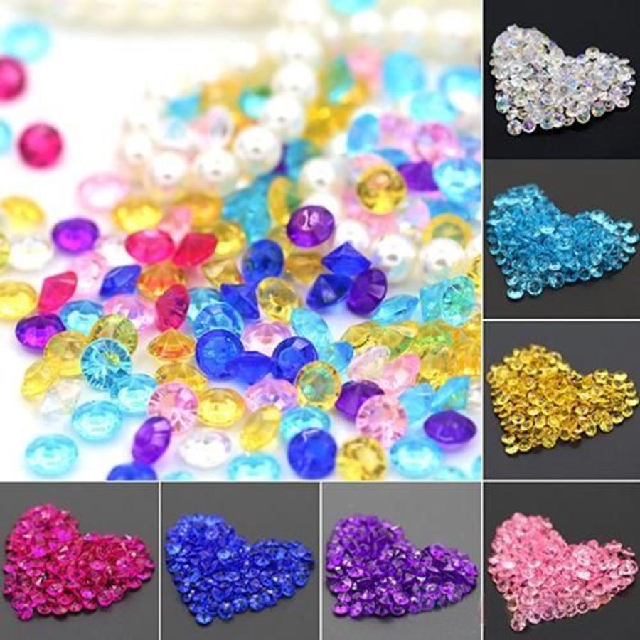 Decoratie Steentjes - Diamantjes - Licht Blauw - 1000 stuks-3