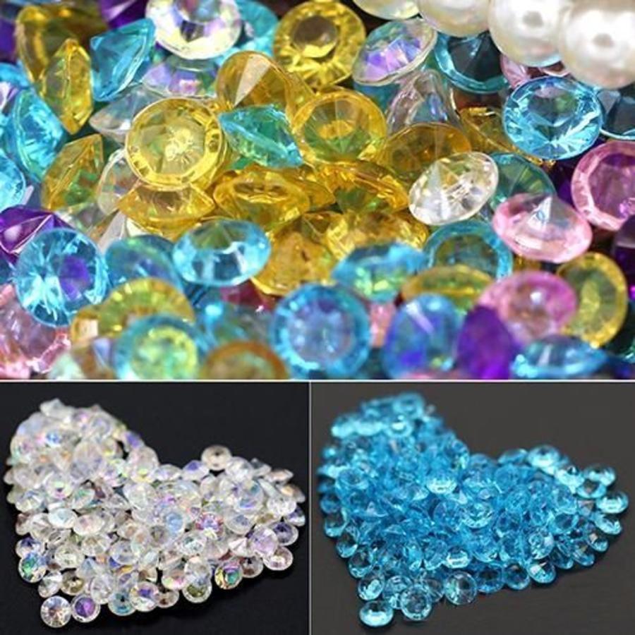 Decoratie Steentjes - Diamantjes - Licht Blauw - 1000 stuks-4