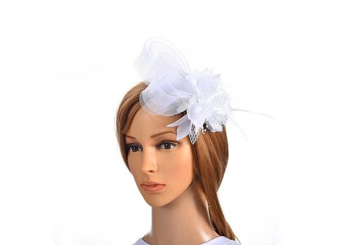 Chique Witte Fascinator