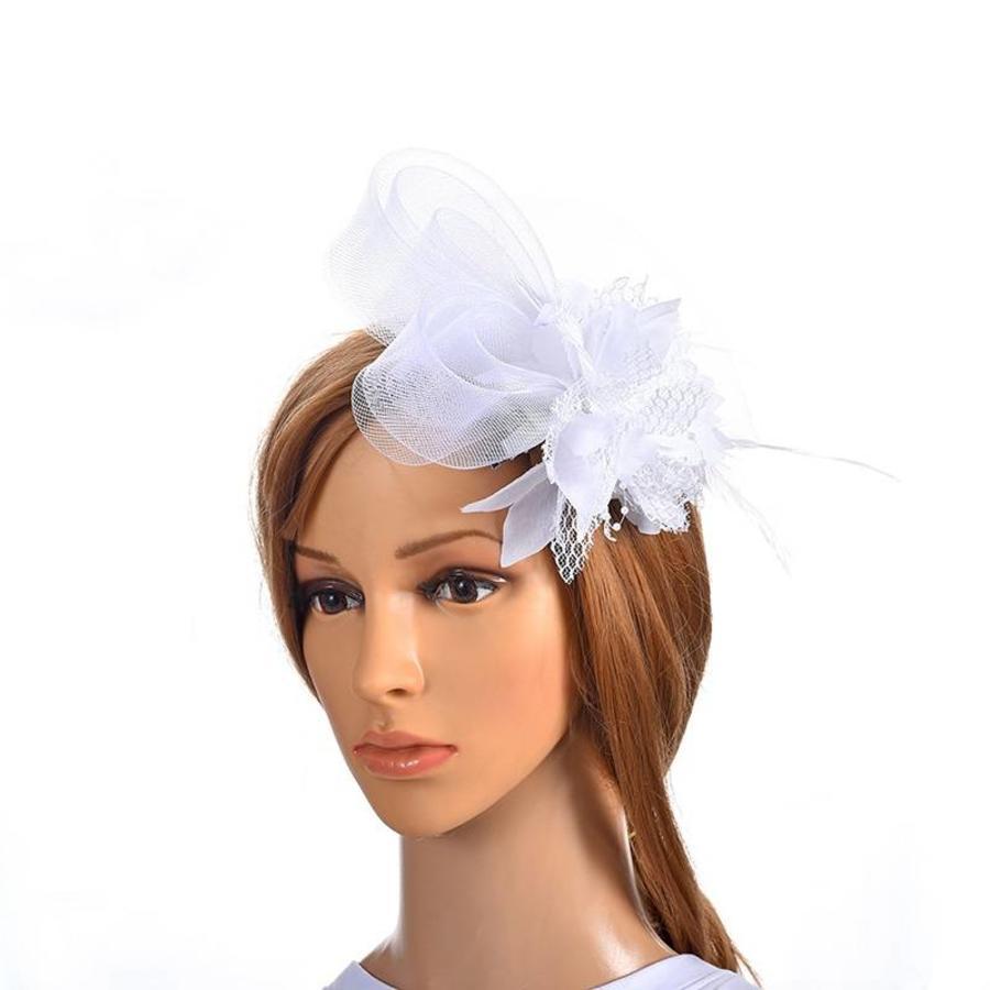 Chique Witte Fascinator-1