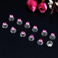 Donker Roze Mini Kristal Curlies - 6 stuks