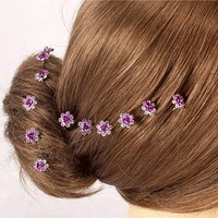 thumb-Hairpins – Donker Paars Roosje - 5 stuks-3