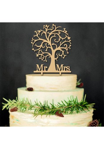 Taarttopper - MR & MRS - Liefdesboom