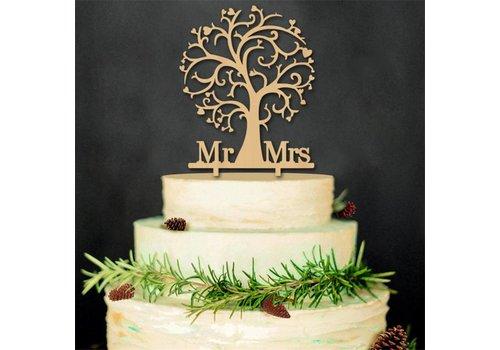 Taarttopper - MR & MRS - Liefdesboom