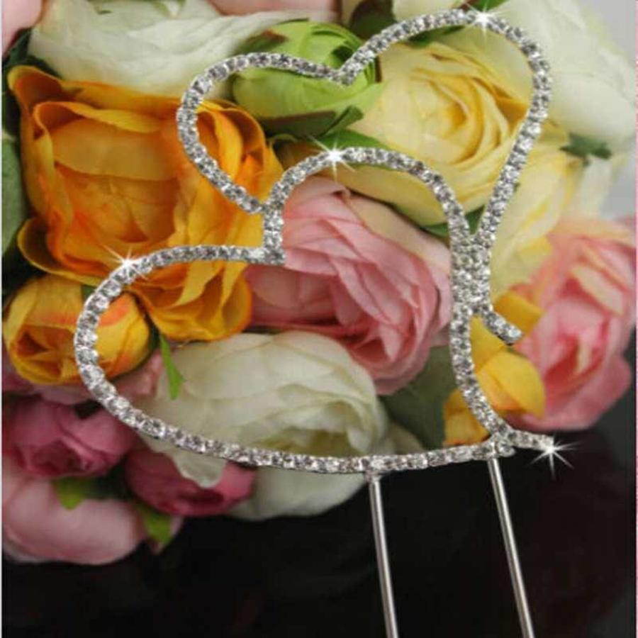 Taarttopper - Hearts met fonkelende Diamantjes-4