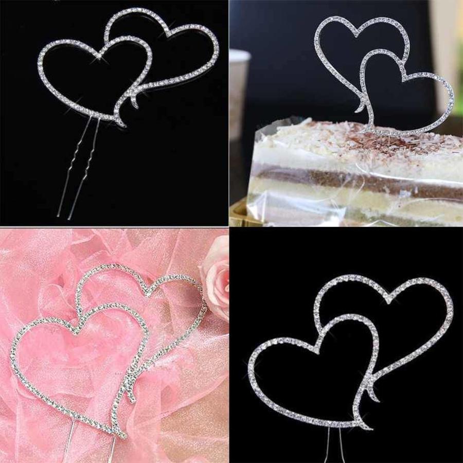 Taarttopper - Hearts met fonkelende Diamantjes-3