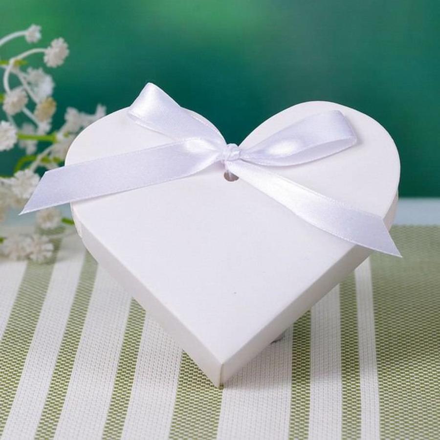Geschenk doosjes / Cadeau doosjes - 50 stuks - Wit Hart-2