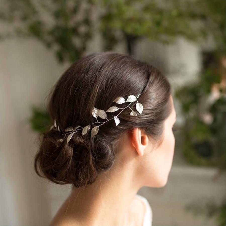 Stijlvol Zilverkleurig Haar Sieraad met Blaadjes-5