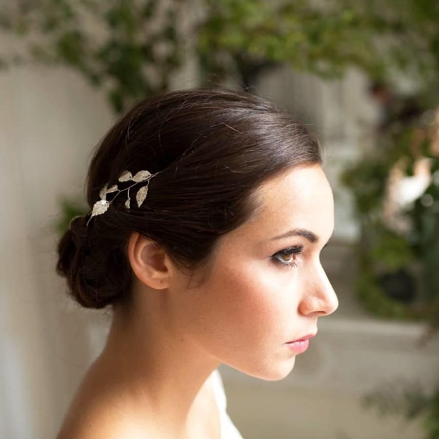 Stijlvol Zilverkleurig Haar Sieraad met Blaadjes-3