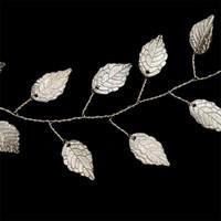 thumb-PaCaZa - Stijlvol Zilverkleurig Haar Sieraad met Blaadjes-4