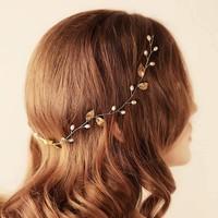thumb-Elegant Goudkleurig Haar Sieraad-5