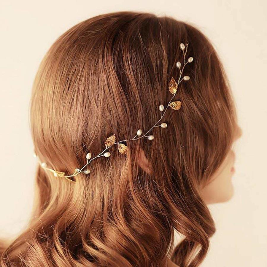 Sale - Elegant Goudkleurig Haar Sieraad-5