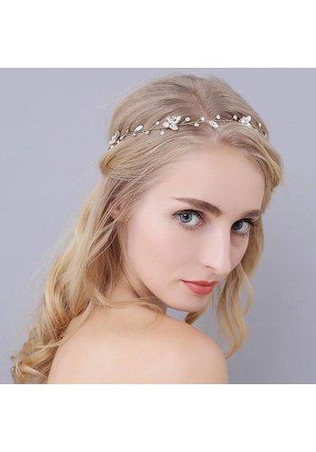Stijlvol Zilverkleurig Haar Sieraad - 43 cm
