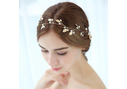 SALE - Elegant Goudkleurig Haar Sieraad