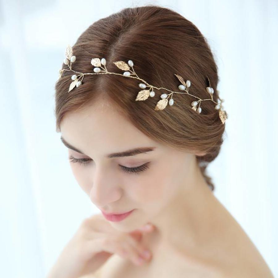 Sale - Elegant Goudkleurig Haar Sieraad-1