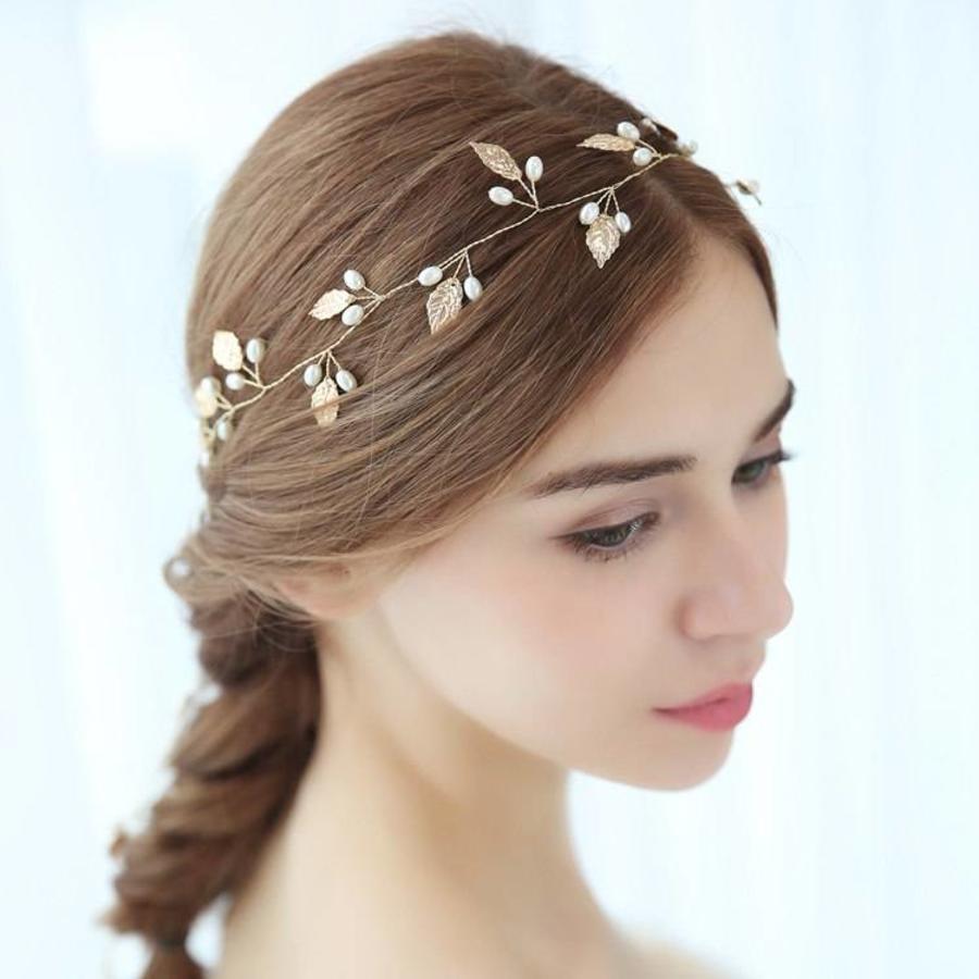 Sale - Elegant Goudkleurig Haar Sieraad-3
