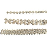 thumb-Haar Sieraad / Haarband Strik met Fonkelende Kristallen en Ivoorkleurige Parels-3