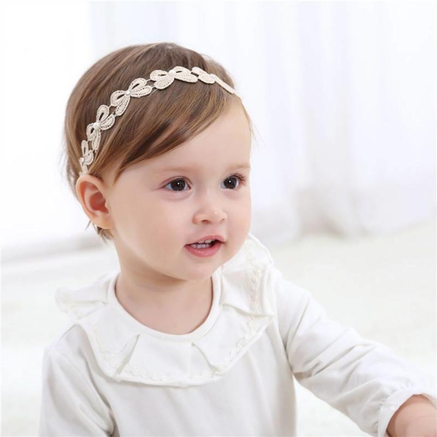 Haar Sieraad / Haarband Strik met Fonkelende Kristallen en Ivoorkleurige Parels-1