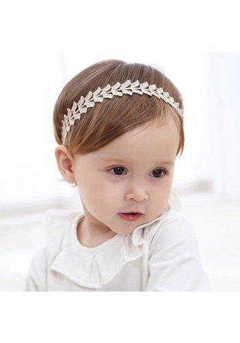 Haar Sieraad / Haarband Blaadje met Fonkelende Kristallen