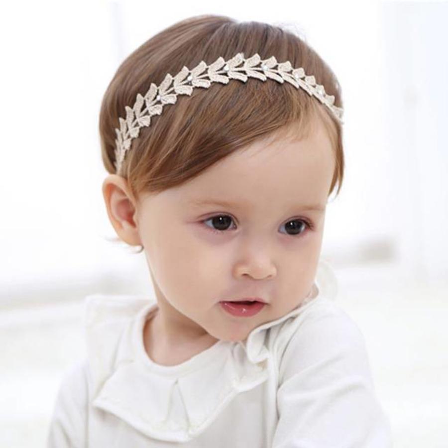 Haar Sieraad / Haarband Blaadje met Fonkelende Kristallen-1