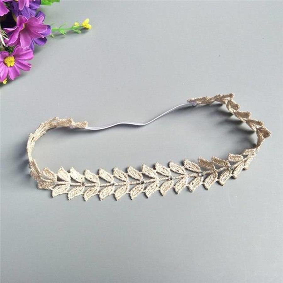 Haar Sieraad / Haarband Blaadje met Fonkelende Kristallen-2