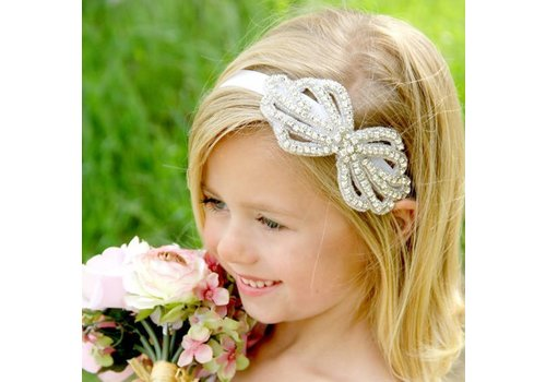 Haar Sieraad / Haarband Strik met Fonkelende Kristallen