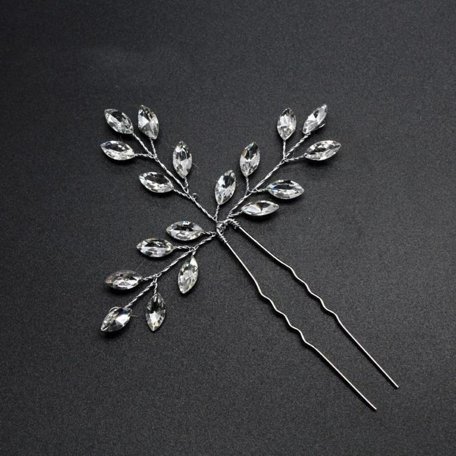 PaCaZa - Hairpins met Diamanten - 2 Stuks-3
