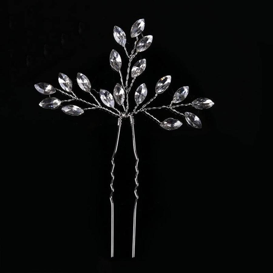Hairpins met Diamanten - 2 Stuks-2
