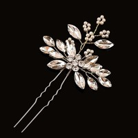 thumb-Goudkleurige Hairpins met Diamanten en Pareltjes - 2 Stuks-1