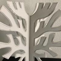 thumb-Houten 3D Boom 40x30cm - Kleur Antique White-3