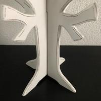 thumb-Houten 3D Boom 40x30cm - Kleur Antique White-4