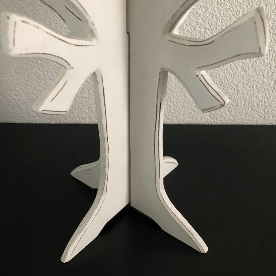 Houten 3D Boom 40x30cm - Kleur Antique White-4