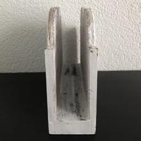 thumb-BonTon - Houten Postbak Hart / Notes 20 cm - Kleur Antique White-3