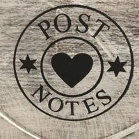 thumb-BonTon - Houten Postbak Hart / Notes 20 cm - Kleur Antique White-4