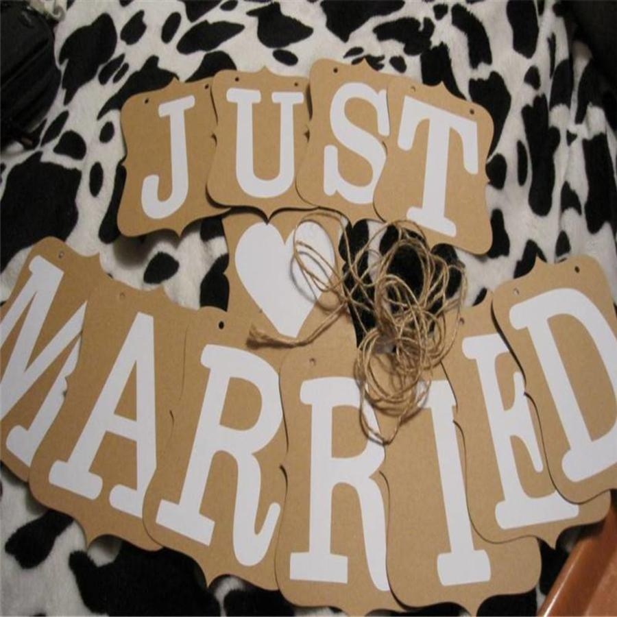Just Married Slinger -  Bruiloft Decoratie-4