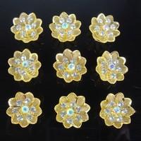 thumb-Fonkelende Goudkleurige Curlies met Kristallen - 6 stuks-3