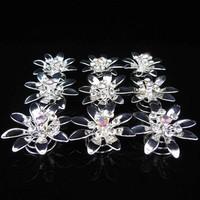 thumb-Fonkelende Zilverkleurige Curlies met Kristallen - 6 stuks-1