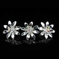 thumb-Fonkelende Zilverkleurige Curlies met Kristallen - 6 stuks-4