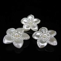 thumb-PaCaZa - Grote Ivoorkleurige Curlies met Fonkelende Kristallen - 4 stuks-3