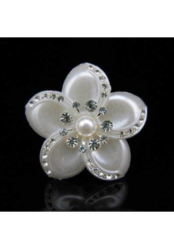 Grote Ivoorkleurige Curlies met Fonkelende Kristallen - 4 stuks