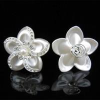 thumb-Grote Ivoorkleurige Curlies met Fonkelende Kristallen - 4 stuks-1