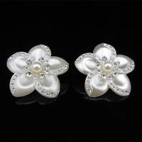 thumb-Grote Ivoorkleurige Curlies met Fonkelende Kristallen - 4 stuks-5