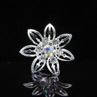 thumb-Big Flower Curlies met Kristallen - 6 stuks-1